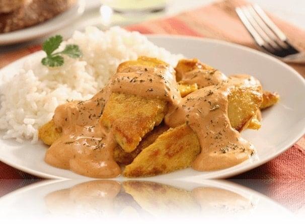 pollo en crema de chipotle