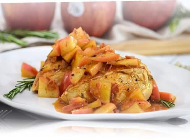 pollo en salsa de manzana