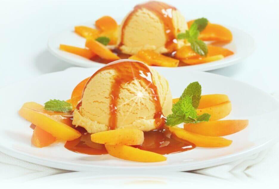 helado de durazno