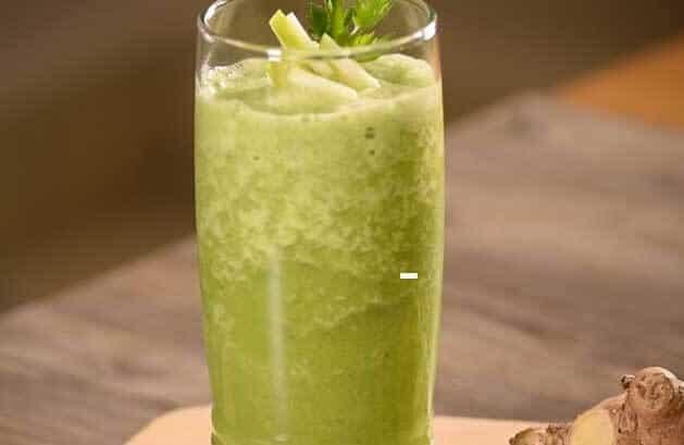 jugo de jengibre con manzana y limon