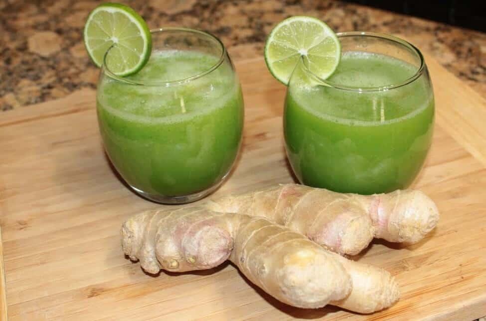 receta de jugo de jengibre