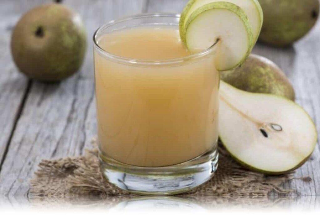 jugo de pera receta