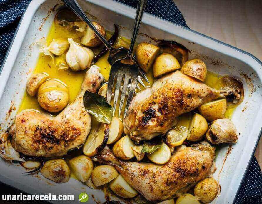 receta-de-muslos-de-pollo-al-horno