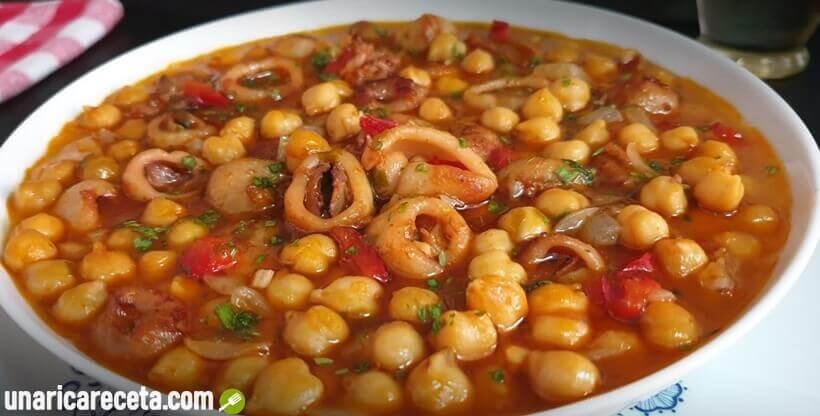 receta-de-garbanzos-con-calamares