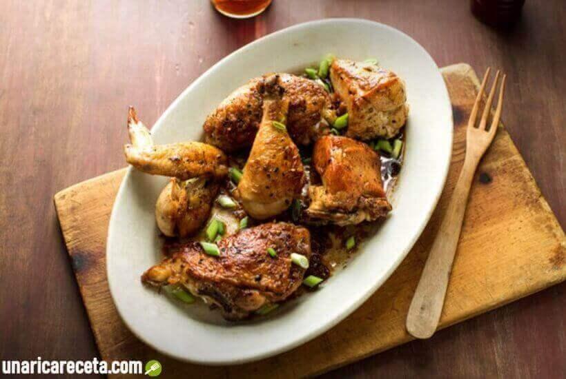 pollo-al-ajillo-con-vinagre-receta