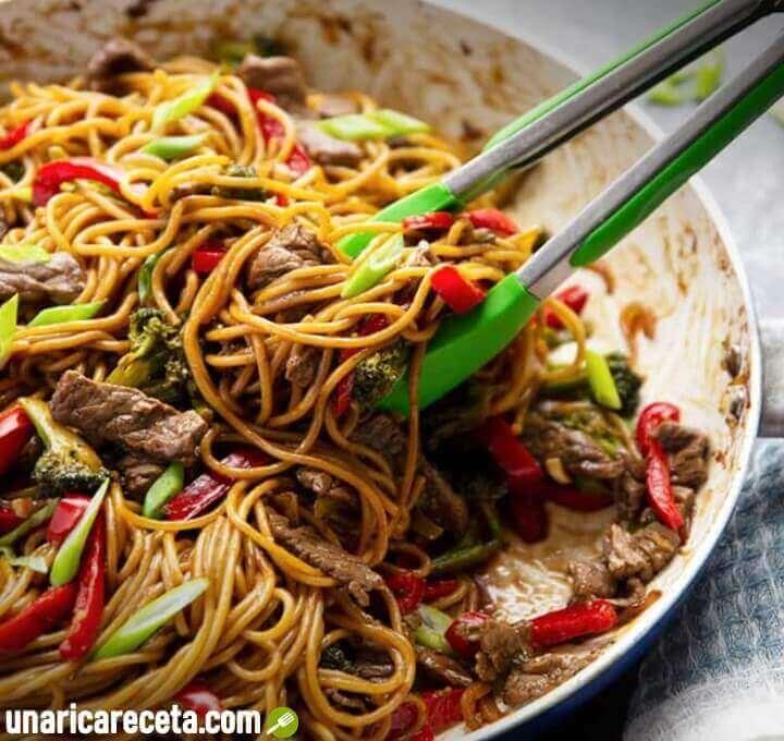 receta-de-tallarines-chinos-con-ternera