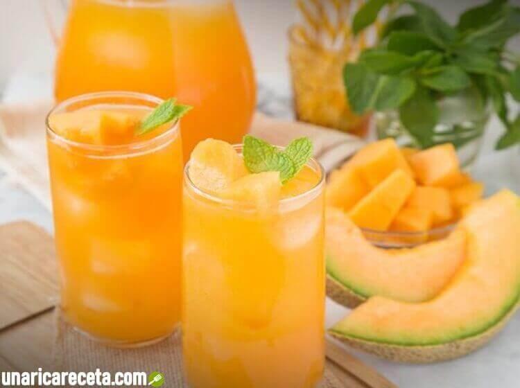 receta-de-jugo-de-melón-y-menta